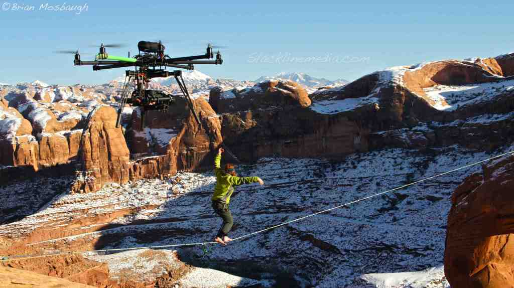 Scott Rogers sending Mario during sub-zero temperatures in Moab, UT.