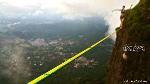 Hayley Ashburn high above Rio de Janeiro