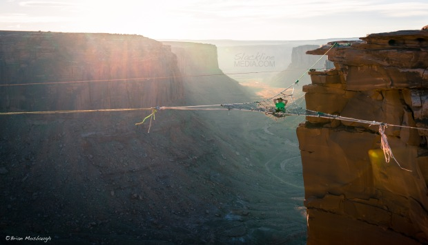 Richard Webb hanging out in Moab as usual. Thanks Andy Lewis for your master riggings skills and creativity!