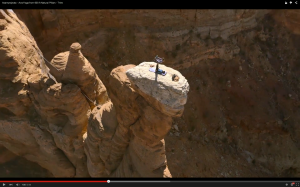 Acro Yoga On Desert Towers