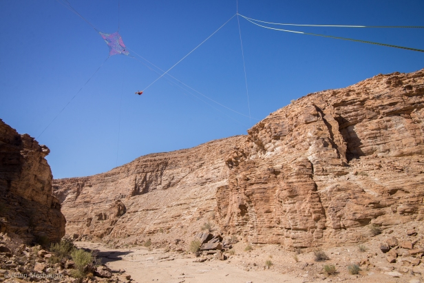 First rope swing and space net rigged in Namibia